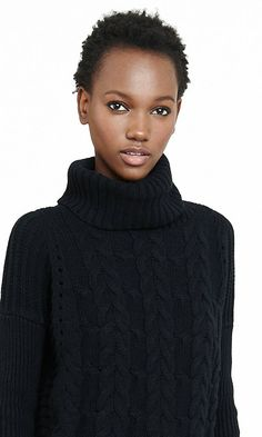 cable knit london turtleneck sweater
