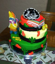 Fiesta Mexicana Cake! Cinco de Mayo, Charro Days, Charro Party, Mexican Theme Party