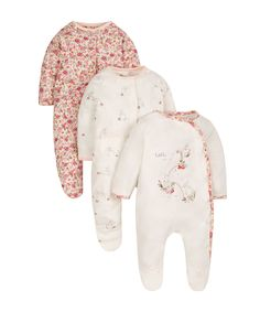 Autumn Garden Sleepsuits - 3 Pack