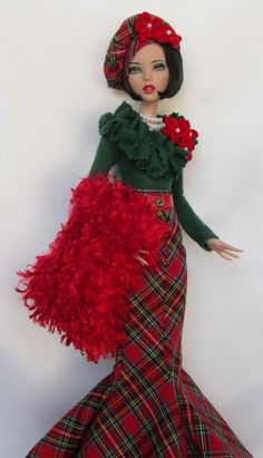 "EMMA JEAN'S HIGHLANDS CHRISTMAS!  FOR 16"" TONNER DEJA VU. MADE BY SSDESIGNS"