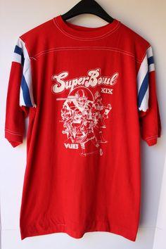Vintage 1980s Mens Super Bowl XIX Sportswear Jersey T Shirt USA Large