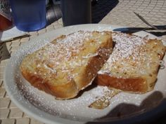 Killer coconut and vanilla custard stuffed French Toast at Cafe Elysa in Carlsbad Village - divine!