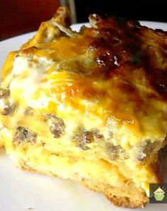 Deluxe Breakfast Casserole Using delicious Hash Browns! A great dish to serve for the weekend.