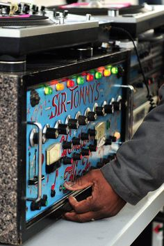 Sir Tommy's custom reggae sound system preamp... A thing of beauty!     The legendary Sir Tommy's was one of the first JA sound in Brooklyn and has been a pillar of the New York sound system scene over the last four decades!
