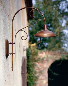 Italian Antique Copper and Brass Exterior Wall Light Copper Lighting, Outdoor Wall Lighting, Home Lighting, Lighting Design, Outdoor Lamps, Exterior Wall Light, Exterior Lighting, Buy Lamps, Luminaire Led