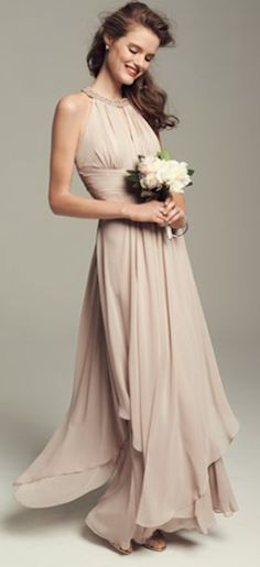 pretty champagne bridesmaid dress  http://rstyle.me/n/m697ipdpe