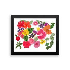 Edible flowers Framed poster