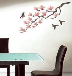 wall stencil - Magnolia flowers