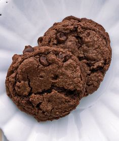 Double Chocolate-Chip Cookies  Just made these and they are awesome!  I only had a 1/2 cup of white sugar so I used 1 1/2 cups brown sugar.  I also used cake flour.  I doubled the recipe and got 20 large cookies.