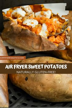 Air Fryer Sweet Potatoes are the perfect choice as an air fryer side dish, the only take 45 minutes for the best sweet potatoes!
