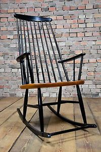WoW 60er TEAK SCHAUKELSTUHL ROCKING CHAIR Ilmari Tapiovaara Mid Century 60s  WoW | EBay