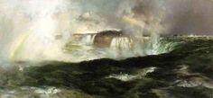Vous cherchez des chutes du Niagara - (Thomas Moran)
