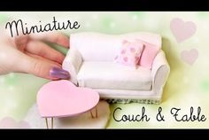 Miniature Couch & Table Tutorial