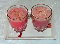 Rose Badam Milk Shake Milkshake, Pudding, Rose, Desserts, Tailgate Desserts, Smoothie, Pink, Deserts, Custard Pudding