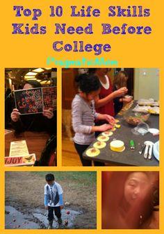 Top 10 Life Skills Kids Need Before College :: PragmaticMom