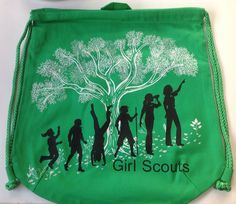 Girl Scouts Canvas Drawstring BackPack -$6.00