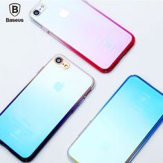 Find More Phone Bags & Cases Information about Baseus Ultrathin Clear Gradient PC Back Cover for iPhone 7 4.7 inch Mobile Phone Protector Case Luxury Aurora Transparent Glaze ,High Quality for iphone,China luxury case Suppliers, Cheap phone cases from UNIFISH Store on Aliexpress.com