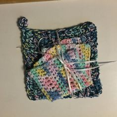 Winter and Spring Trivet and Dishcloth Set 100% by jabcrochet