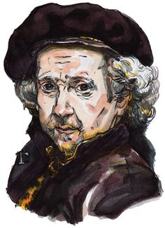Master of the Month :: Rembrandt (drawn by Rama Hughes)
