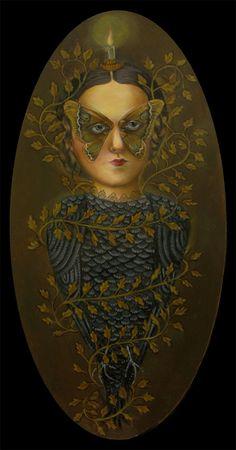 By the artist ~ Kelly Louise Judd Victorian Literature, Madame Butterfly, Mc Escher, Beautiful Bugs, Doll Painting, Renaissance Art, Portrait Art, Dark Art, Art Pictures
