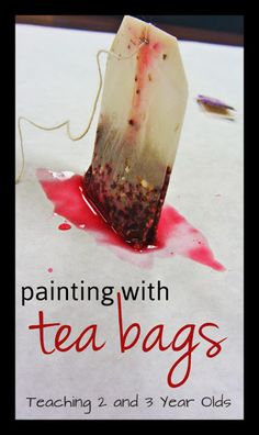 Preschool Art: Painting with Tea Bags {teaching2and3yearolds}