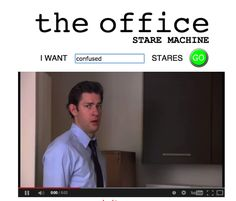 Type any emotion into The Office Stare Machine, and you'll find a YouTube library of those signature breakings of the fourth wall. It's here.