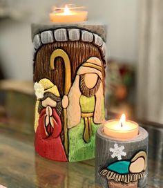 Xmas Wishes, Holy Family, Pillar Candles, Holi, Portal, Nativity, Carving, Christmas, Craft Ideas