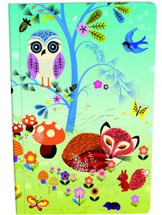 Roger la Borde   Exercise Book cover with owl and fox by Idee Fixe
