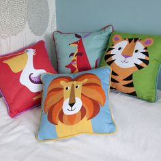 Coulourful Creature Design Cushions