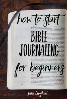 How to start Bible journaling for beginners! This is a great step-by-step process for those of you who are interested in Bible journaling but don't know where to start. Pin now, read later!