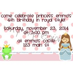 Princess Invite from Vinyl Expressions for $10.00