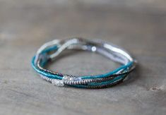 Bracciale elastico con perline Multi Wrap, Seed Bead Jewelry, delicato Braccialetto elasticizzato con Labradorite, zircone & pirite, Collana Boho Chic