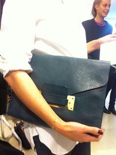 Prada clutch. Pleated maxi skirt. | Accessories | Pinterest | Two ...