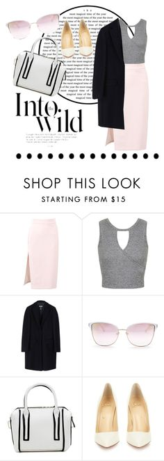 """""""Untitled #28"""" by valialia ❤ liked on Polyvore featuring MSGM, Miss Selfridge, Anja, GUESS and Christian Louboutin"""