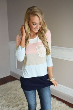 Center of Attention Top ~ Light Blue – The Pulse Boutique