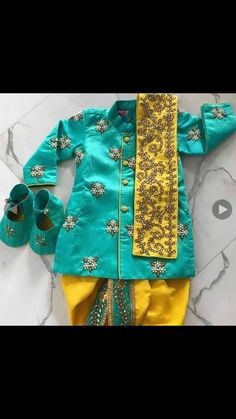 16 Ideas Birthday Kids Traditions Ideas For 2019 Baby Boy Dress, Baby Girl Dresses, Baby Boy Outfits, Kids Outfits, Baby Boy Ethnic Wear, Kids Ethnic Wear, Indian Dresses For Kids, Indian Gowns, Indian Wear
