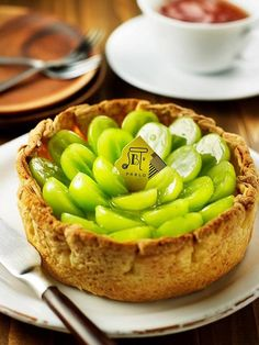 Green Grape Tart of Pablo Cafe, Japan