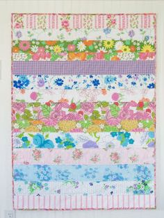 Sew Lovely: Vintage Sheet Strip Quilt