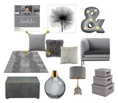"""""""Paantone Colour - Sharkskin"""" by shistyle ❤ liked on Polyvore featuring interior, interiors, interior design, home, home decor, interior decorating, ferm LIVING, Crystal Art, Bloomingville and Ellery Homestyles"""