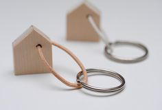 DIY Mini House Keychain   (Description in German, but use Google Translate if you don't understand)
