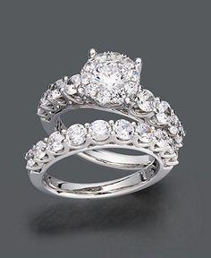 Prestige Unity Diamond Ring Set, 14k White Gold Diamond Bridal Ring Set (2 ct. t.w.) - Rings - Jewelry & Watches - Macy's