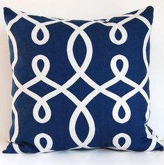 20x20 Navy Blue Decorative Pillow by FestiveHomeDecor, $20.90