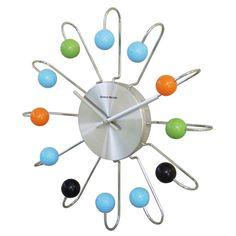 ATOMIC Crazy  . . .    Hans Andersen Home Wooden Atomic Clock