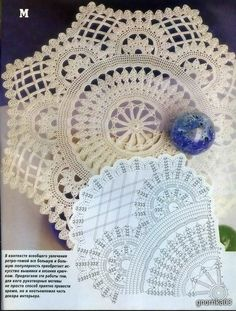 One of a kind doily with diagram