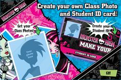 monster high student id | Create your own Class Photo and Student ID card! - Monster High Wiki
