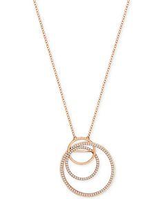 0fc32312474f Swarovski Rose Gold-Tone Pavé Spiral Pendant Necklace Jewelry   Watches -  Fashion Jewelry - Macy s