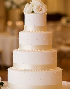 WeddingChannel Galleries: White Wedding Cake - pretty all white cake but may be too plain.