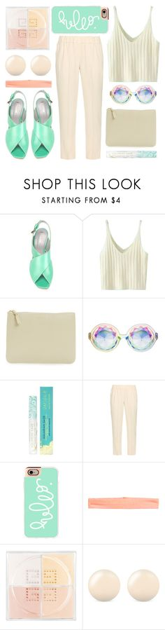 """""""hello!"""" by foundlostme ❤ liked on Polyvore featuring Pollini, WithChic, Comme des Garçons, Pacifica, Brunello Cucinelli, Casetify, H&M, Givenchy, J.W. Anderson and organized"""
