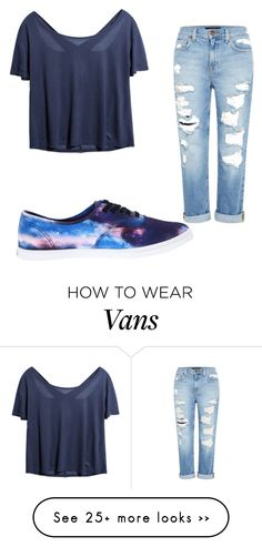 """School"" by bubbles-peach on Polyvore featuring moda, Genetic Denim ve Vans"