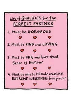 My Perfect #Valentine - weirdness included